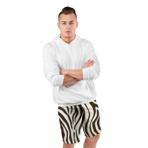 Мужские шорты спортивные Шкура зебры Фото 01
