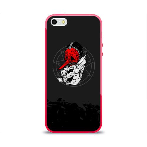 Чехол для Apple iPhone 5/5S силиконовый глянцевый  Фото 01, Slipknot N3 Chris Fehn