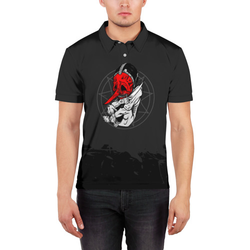 Мужская рубашка поло 3D  Фото 03, Slipknot N3 Chris Fehn