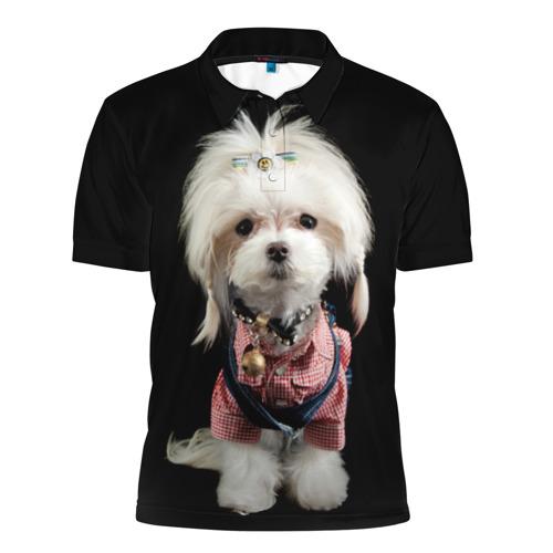 Мужская рубашка поло 3D  Фото 01, Хиппи пес