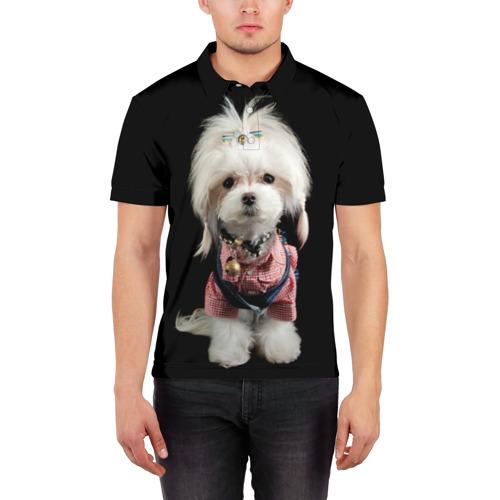Мужская рубашка поло 3D  Фото 03, Хиппи пес