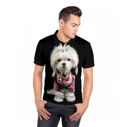 Мужская рубашка поло 3D  Фото 05, Хиппи пес
