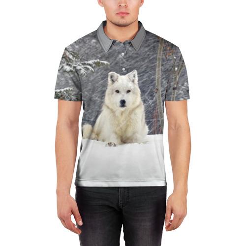Мужская рубашка поло 3D  Фото 03, Snow