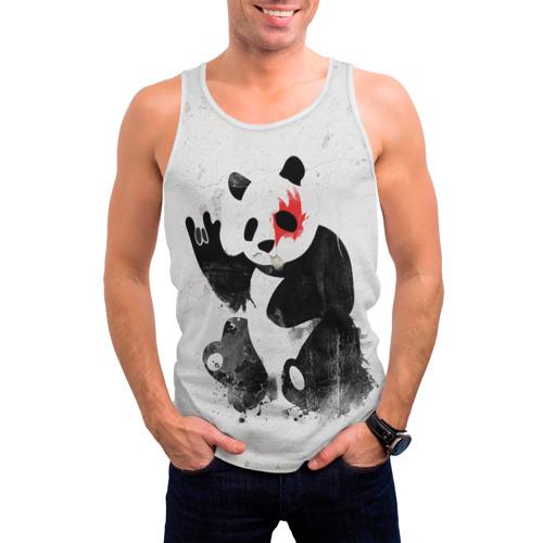 Мужская майка 3D  Фото 03, Рок-панда