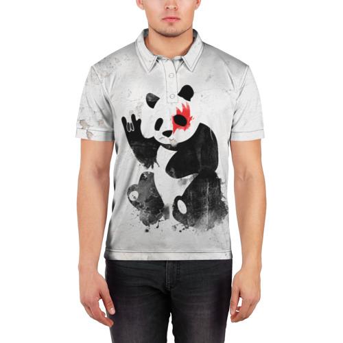 Мужская рубашка поло 3D  Фото 03, Рок-панда