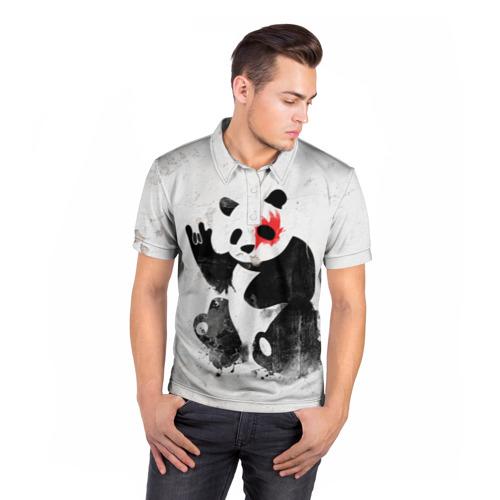 Мужская рубашка поло 3D  Фото 05, Рок-панда