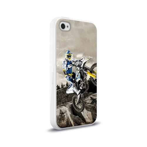 Чехол для Apple iPhone 4/4S силиконовый глянцевый husqvarna Фото 01