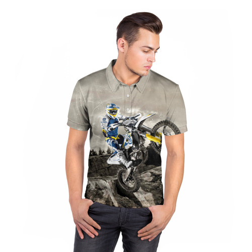 Мужская рубашка поло 3D  Фото 05, husqvarna