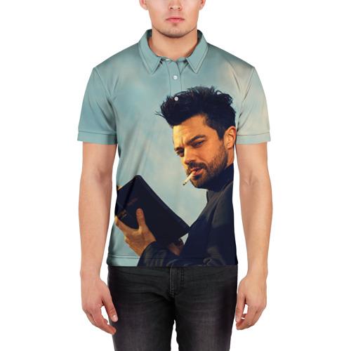 Мужская рубашка поло 3D  Фото 03, Проповедник в огоне