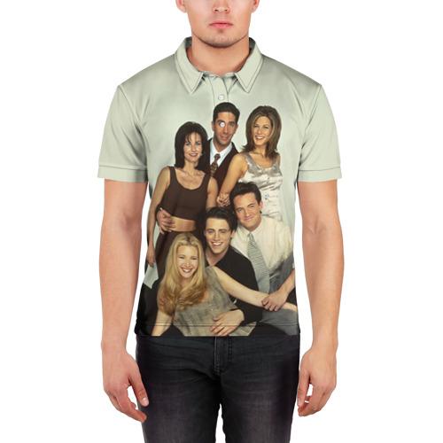 Мужская рубашка поло 3D  Фото 03, Друзья