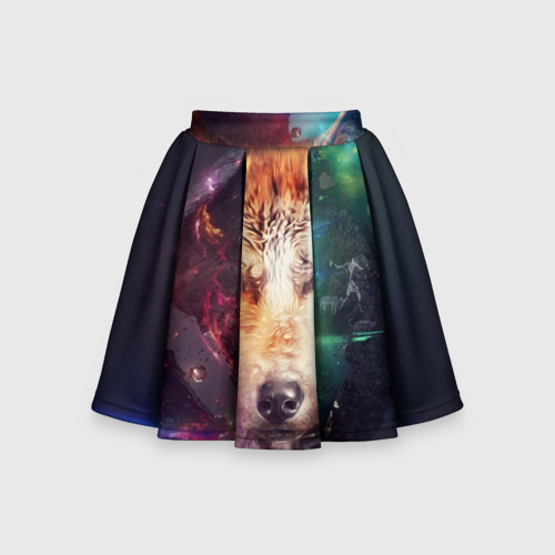 Детская юбка-солнце 3D  Фото 01, Space WOLF
