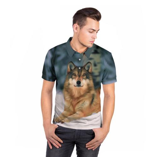 Мужская рубашка поло 3D  Фото 05, Рисунок