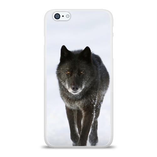 Чехол для Apple iPhone 6Plus/6SPlus силиконовый глянцевый  Фото 01, Черный волк