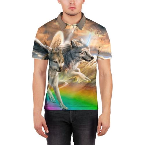 Мужская рубашка поло 3D  Фото 03, Фантазия