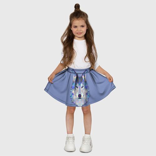 Детская юбка-солнце 3D  Фото 03, Волк