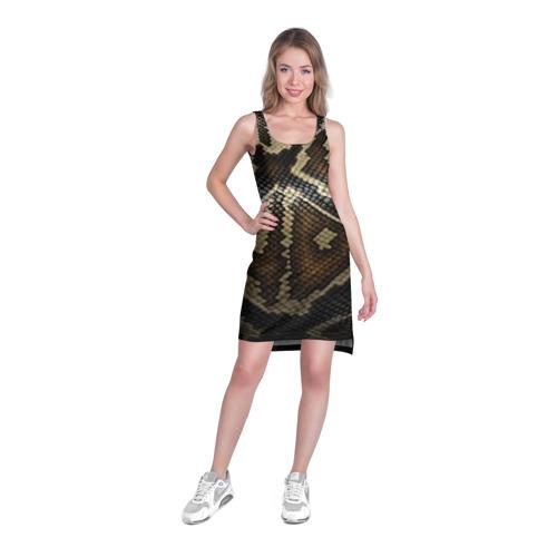 Платье-майка 3D  Фото 03, Кожа змеи