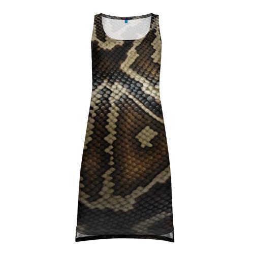 Платье-майка 3D  Фото 01, Кожа змеи