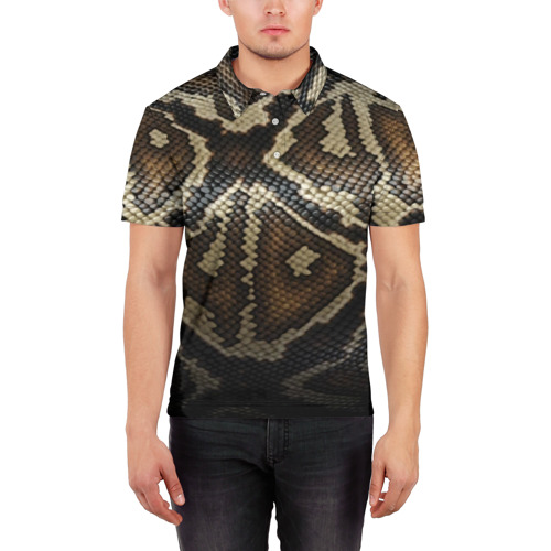 Мужская рубашка поло 3D  Фото 03, Кожа змеи