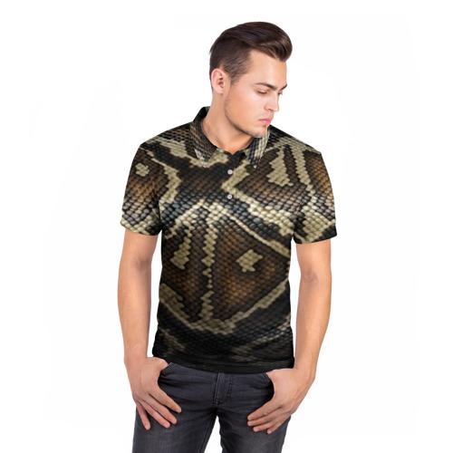 Мужская рубашка поло 3D  Фото 05, Кожа змеи