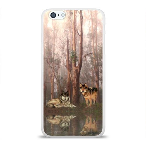 Чехол для Apple iPhone 6Plus/6SPlus силиконовый глянцевый  Фото 01, Forest