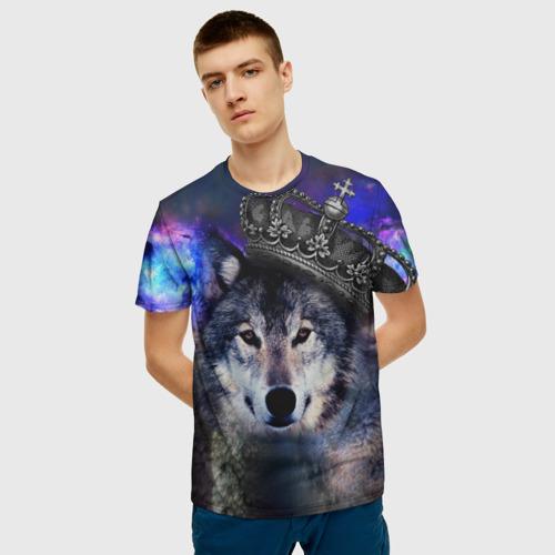 Мужская футболка 3D King Wolf Фото 01
