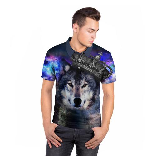 Мужская рубашка поло 3D  Фото 05, King Wolf
