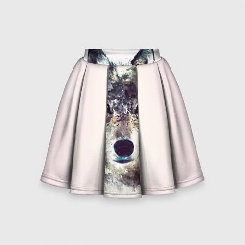 Детская юбка-солнце 3D Волк