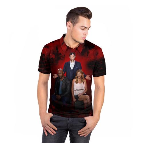 Мужская рубашка поло 3D  Фото 05, Люцифер
