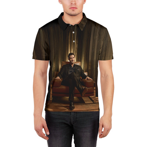 Мужская рубашка поло 3D  Фото 03, Люцифер