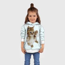 Котенок и снежинки