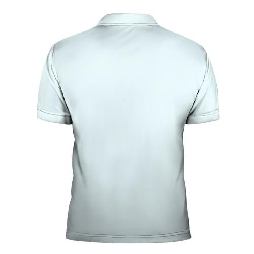 Мужская рубашка поло 3D  Фото 02, Котенок и снежинки