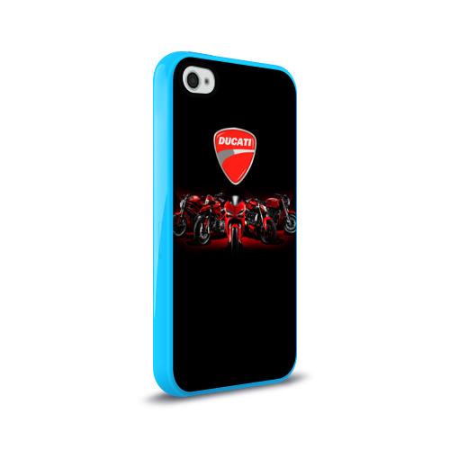 Чехол для Apple iPhone 4/4S силиконовый глянцевый Ducati 5 Фото 01
