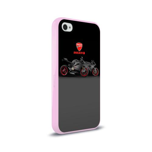 Чехол для Apple iPhone 4/4S силиконовый глянцевый Ducati 2 Фото 01