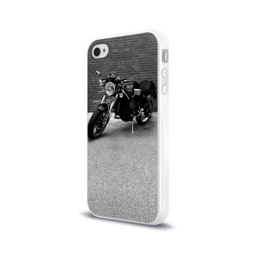 Чехол для Apple iPhone 4/4S силиконовый глянцевый Ducati 1 Фото 01