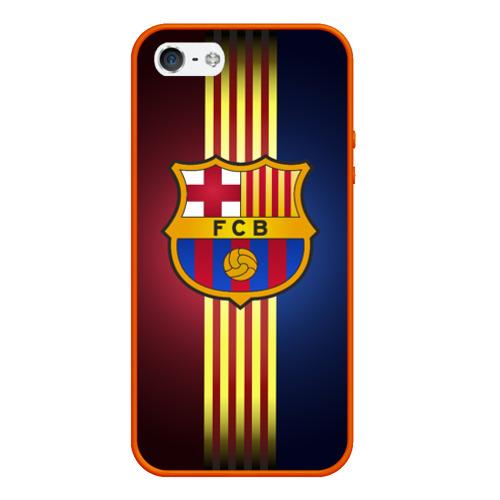 Чехол для iPhone 5/5S матовый Barcelona FC Фото 01