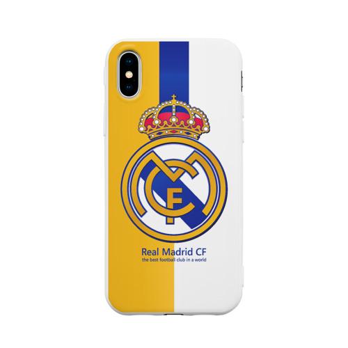 Чехол для Apple iPhone X силиконовый матовый Real Madrid CF