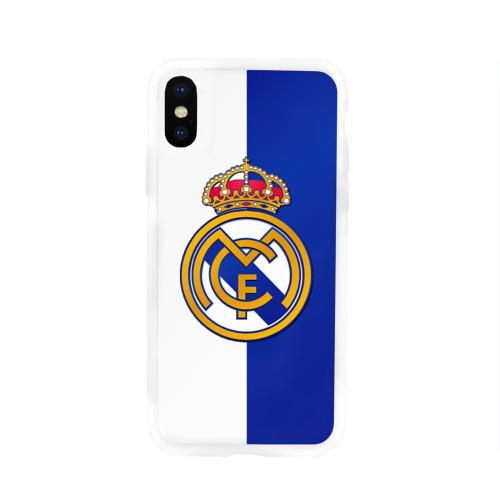Чехол для Apple iPhone X силиконовый глянцевый Real Madrid