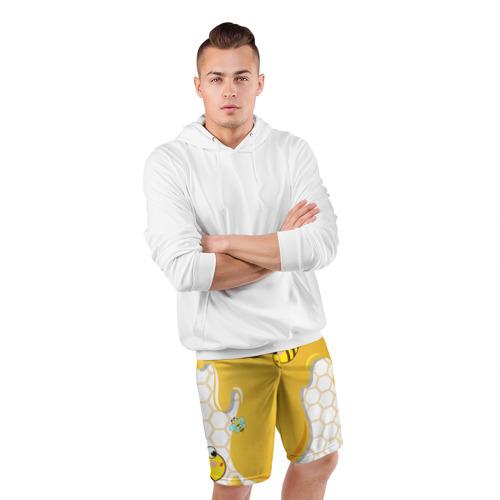 Мужские шорты 3D спортивные  Фото 05, Пчелки