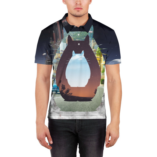 Мужская рубашка поло 3D  Фото 03, Totoro