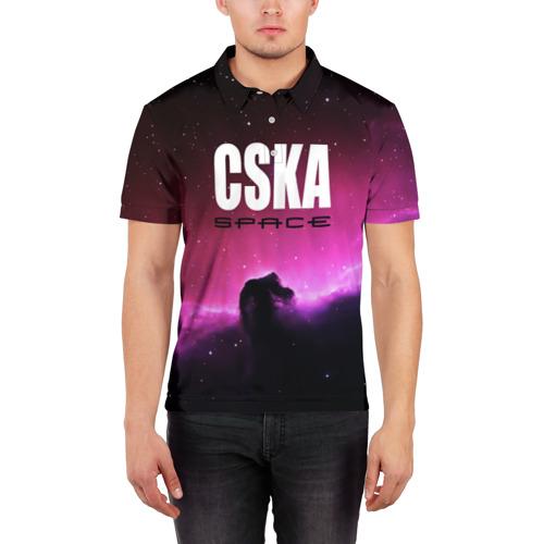 Мужская рубашка поло 3D  Фото 03, CSKA space
