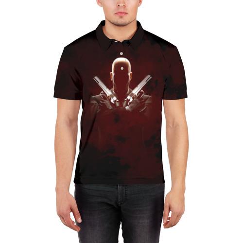 Мужская рубашка поло 3D  Фото 03, Hitman