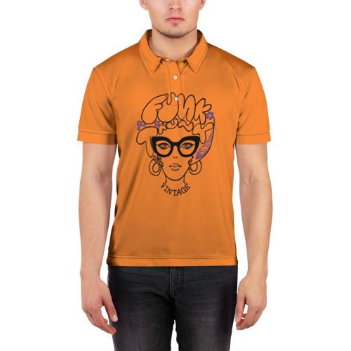 Мужская рубашка поло 3D  Фото 03, Funk Vintage