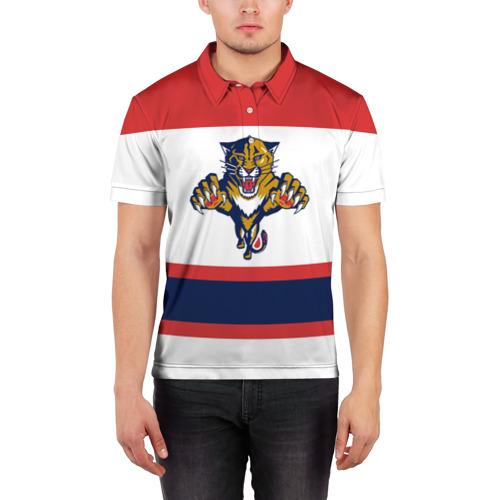 Мужская рубашка поло 3D  Фото 03, Florida Panthers white