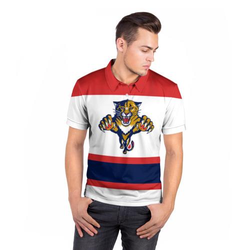 Мужская рубашка поло 3D  Фото 05, Florida Panthers white