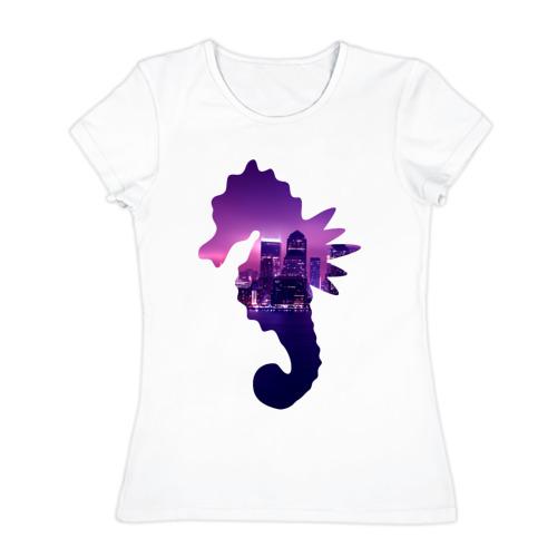 Женская футболка хлопок  Фото 01, конек город