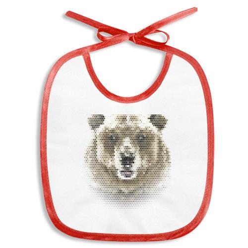 Слюнявчик  Фото 01, Медведь из шестиугольников