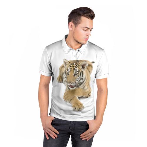Мужская рубашка поло 3D  Фото 05, Ласковый тигренок