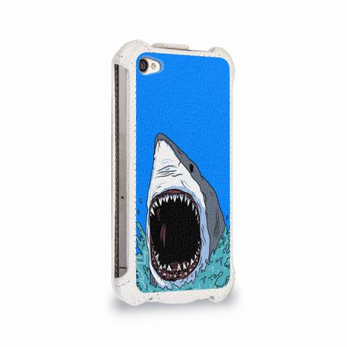 Чехол для Apple iPhone 4/4S flip  Фото 02, shark