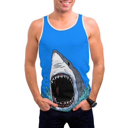 Мужская майка 3D  Фото 03, shark