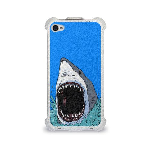 Чехол для Apple iPhone 4/4S flip  Фото 01, shark